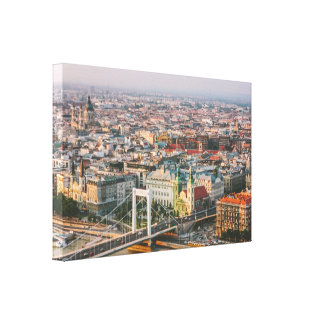 Budapest Cityscape At Sunset - Photography Gallery Wrap Canvas