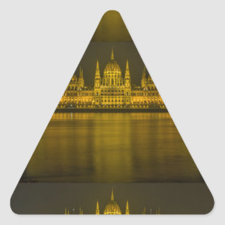 Budapest hungarian parliament building triangle sticker