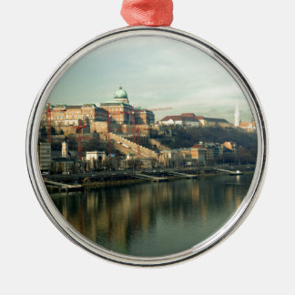 Budapest Hungary Castle Hill over the Danube Christmas Ornament