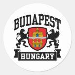 Budapest Hungary Classic Round Sticker
