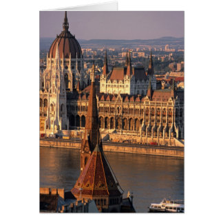 Budapest, Hungary, Danube River, Parliament Card