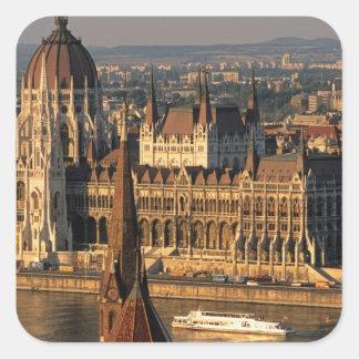Budapest, Hungary, Danube River, Parliament Square Sticker