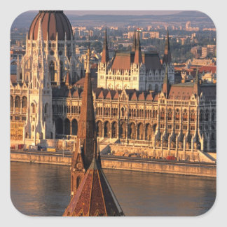 Budapest, Hungary, Danube River, Parliament Square Sticker