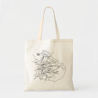 Budapest Hungary Map Tote Bag