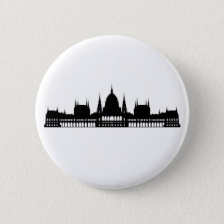 budapest hungary parliament palace architecture 6 cm round badge