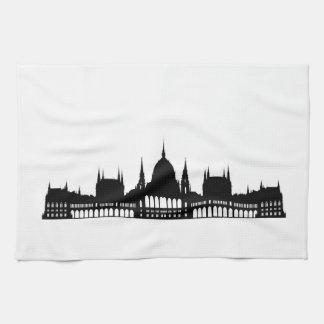 budapest hungary parliament palace architecture tea towel