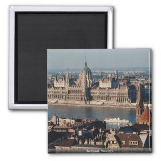 Budapest, Hungary Square Magnet