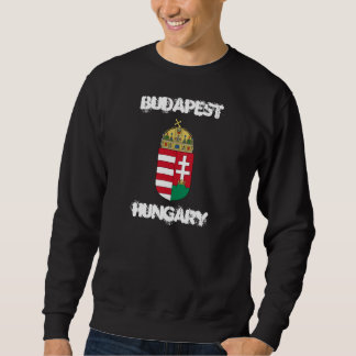 Budapest, Hungary with coat of arms Sweatshirt