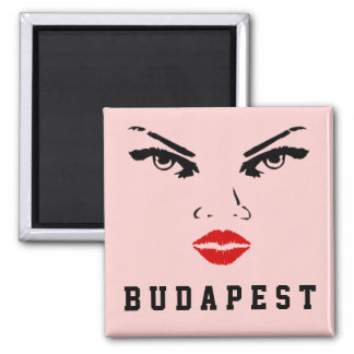 Budapest, Hungary Woman Girlfriend Wife Bride Square Magnet