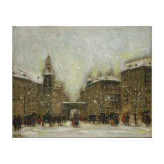Budapest in the Snow Canvas Print