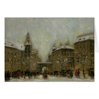 Budapest in the Snow Card
