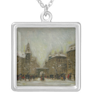 Budapest in the Snow Silver Plated Necklace