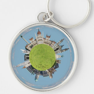 budapest little tiny planet travel tourism hungary key ring