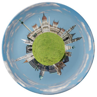 budapest little tiny planet travel tourism hungary plate