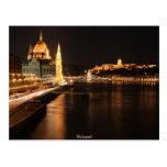 Budapest night in april 2012 postcard