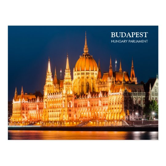 Budapest Parliament in night Postcard