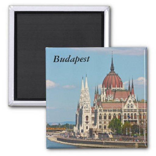 Budapest, the building of the Parliament, Budapest Refrigerator Magnet