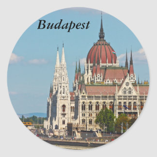 Budapest, the building of the Parliament, Budapest Round Sticker