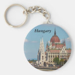 Budapest, the building of the Parliament, Hungary Keychains