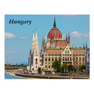 Budapest, the building of the Parliament, Hungary Postcard
