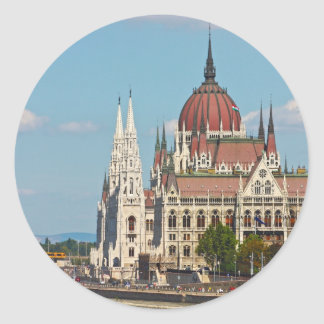 Budapest, the building of the Parliament Round Sticker