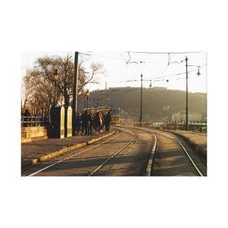 Budapest tram no. 2 canvas print