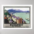 Budapest via Harwich Poster