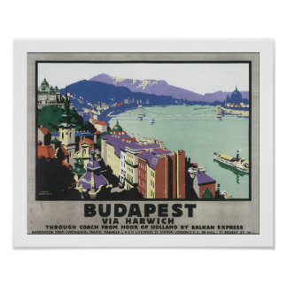 Budapest via Harwich Poster