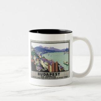 Budapest Via Harwich Vintage Travel Poster Coffee Mug