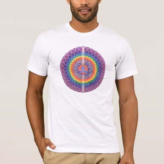 budda mandala Rainbow Peace Shirt