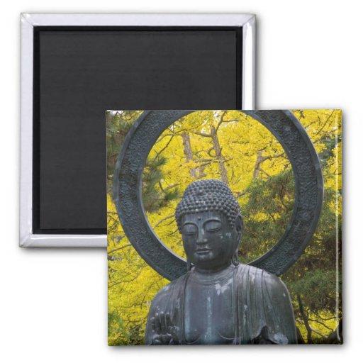 Budda Statue in the Japanese Gardens Golden Fridge Magnet