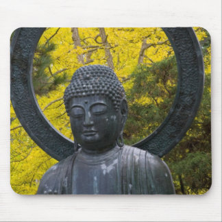Budda Statue in the Japanese Gardens Golden Mouse Mat