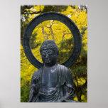 Budda Statue in the Japanese Gardens Golden Poster