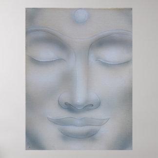 buddah face meditation poster