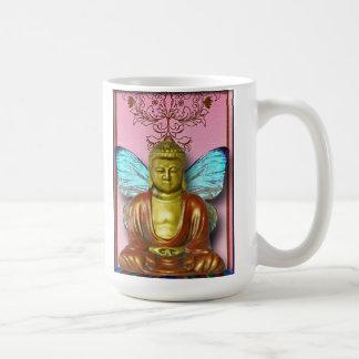 Buddah Fairy...altered art, coffee mug