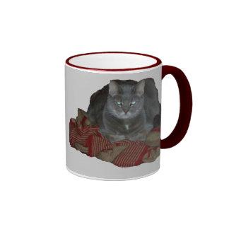 Buddah Grey Grumpy Cat Mug