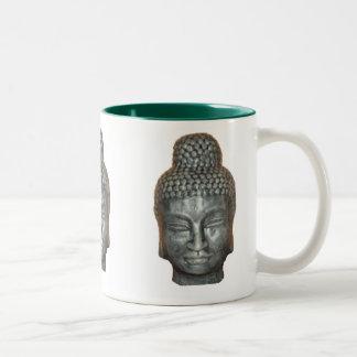 Buddah head, Two-Tone coffee mug