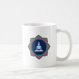 Buddah Lotus Basic White Mug