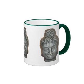 Buddah mug: green ringer