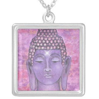 buddha1 square pendant necklace
