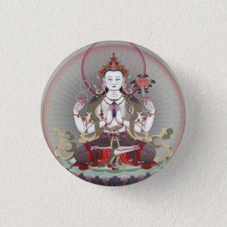 buddha 3 cm round badge