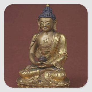 Buddha Amitayus seated in meditation Square Sticker