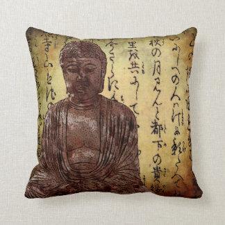 Buddha and Asian writing Cushion