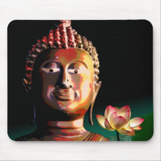 Buddha and Bloomed Lotus mousepad