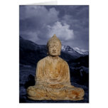 Buddha and Blue Mountains Greeting Cards