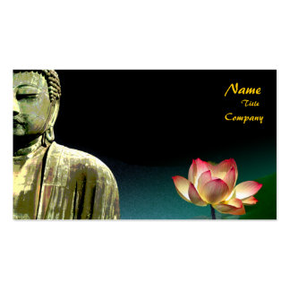 Buddha and lotus Business Card, Holistic Healers Pack Of Standard Business Cards