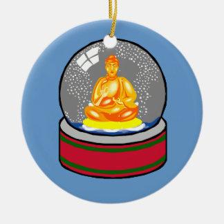 Buddha and snowglobe ornament