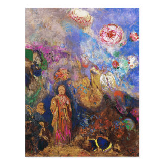 Buddha and the Flower by Odilon Redon Postcard