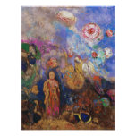 Buddha and the Flower - Poster Print by Redon