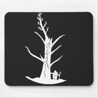 Buddha and tree mouse mat